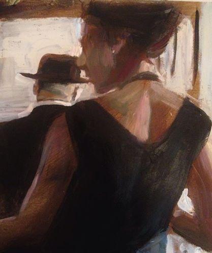 In progress... cafe scene - Nick Garrett