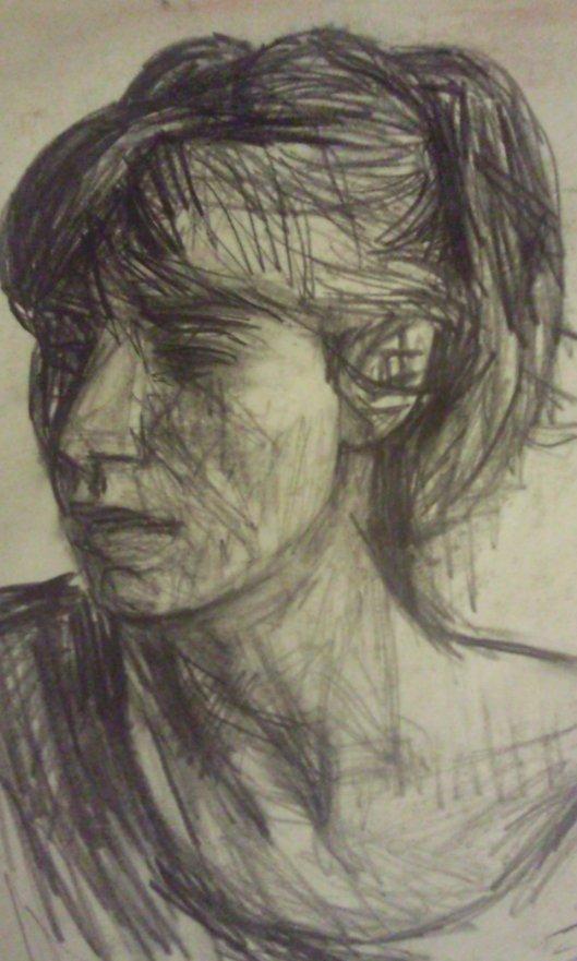 Portrait of Sarah July 1991. Nick Garrett