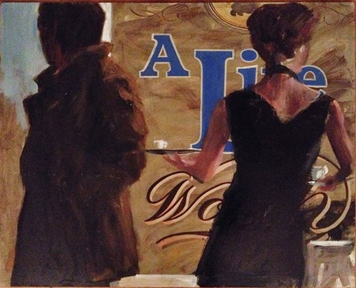 A Life Worth - Nick Garrett Oil on panel