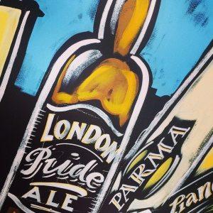 Poska Beer wall design NGS Nick Garrett