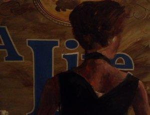 Detail Cafe scene Nick Garrett artist 001